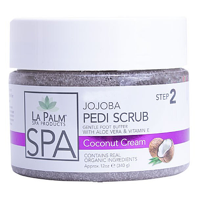 La Palm Pedi-Gel Scrub - Coconut Cream