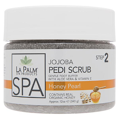 La Palm Pedi-Gel Scrub - Honey Pearl